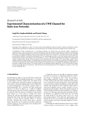 """Báo cáo hóa học: """"  Research Article Experimental Characterization of a UWB Channel for Body Area Networks"""""""