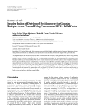 "Báo cáo hóa học: ""  Research Article Iterative Fusion of Distributed Decisions over the Gaussian Multiple-Access Channel Using Concatenated BCH-LDGM Codes"""