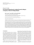 """Báo cáo hóa học: """" Research Article On Channel Estimation for Analog Network Coding in a Frequency-Selective Fading Channel"""""""