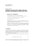 """Báo cáo hóa học: """" Research Article Oscillation of Second-Order Sublinear Dynamic Equations with Damping on Isolated Time Scales"""""""