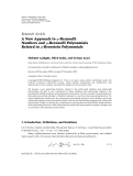 """Báo cáo hóa học: """" Research Article A New Approach to q-Bernoulli Numbers and q-Bernoulli Polynomials Related to q-Bernstein Polynomials"""""""