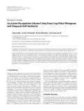 """Báo cáo hóa học: """"  Research Article An Action Recognition Scheme Using Fuzzy Log-Polar Histogram and Temporal Self-Similarity"""""""