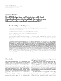 """Báo cáo hóa học: """"  Research Article Novel VLSI Algorithm and Architecture with Good Quantization Properties for a """""""