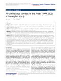 "Báo cáo hóa học: "" Air ambulance services in the Arctic 1999-2009: a Norwegian study"""