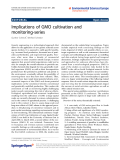 """Báo cáo hóa học: """"  Implications of GMO cultivation and monitoring-series"""""""