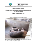 """Nghiên cứu khoa học nông nghiệp """" A blueprint for sustainable smallholder pig production in Central Vietnam - MILESTONE 6 """""""