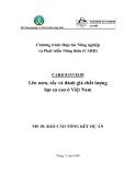 """Chương trình hợp tác nông nghiệp và phát triển nông thôn:"""" Lên men, sấy và đánh giá chất lượng hạt ca cao ở Việt Nam - MS 10 """""""