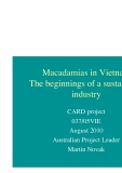 "Nghiên cứu khoa học nông nghiệp "" Macadamias in Vietnam The beginnings of a sustainable industry """