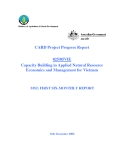 """Báo cáo khoa học nông nghiệp """" Capacity Building in Applied Natural Resource Economics and Management for Vietnam """" MS2"""