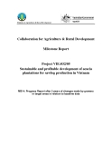 "Nghiên cứu khoa học nông nghiệp "" Sustainable and profitable development of acacia plantations for sawlog production in Vietnam - MS14"""