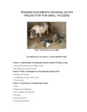 """Nghiên cứu khoa học nông nghiệp """" TRAINING DOCUMENTS ON MONG CAI PIG PRODUCTION FOR SMALL HOLDERS """""""