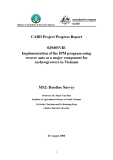 """Card Project Progress Report: Implementation of the IPM program using weaver ants as a major component for cashew growers in Vietnam """" MS2"""