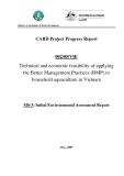 "Card Project Progress Report: "" Technical and economic feasibility of applying the Better Management Practices (BMP) to household aquaculture in Vietnam - MS3 """