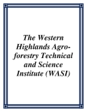 The Western Highlands Agro-forestry Technical and Science Institute (WASI)