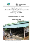 "Project Progress Report:"" A blueprint for sustainable smallholder pig production in Central Vietnam - Milestone 9 """