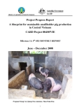 "Project Progress Report: "" A blueprint for sustainable smallholder pig production in Central Vietnam"""