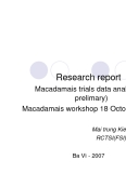 "Research report:"" Macadamais trials data analysis( prelimary) """