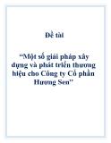 Đề tài: Một số giải pháp xây dựng và phát triển thương hiệu cho Công ty Cổ phần Hương Sen