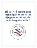 """Đề tài: """"Tổ chức thương mại thế giới WTO và tác động của nó đối với các nước đang phát triển."""""""