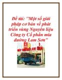 Đề tài: Một số giải pháp cơ bản về phát triển vùng Nguyên liệu Công ty Cổ phần mía đường Lam Sơn