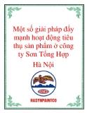 Một số giải pháp đẩy mạnh hoạt động tiêu thụ sản phẩm ở công  ty Sơn Tổng Hợp Hà Nội