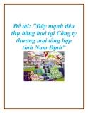 """Đề tài: """"Đẩy mạnh tiêu thụ hàng hoá tại Công ty thương mại tổng hợp tỉnh Nam Định"""""""