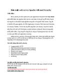 Bảo mật web server Apache với mod Security