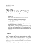 """Báo cáo hóa học: """"   Research Article A T-S Fuzzy Model-Based Adaptive Exponential Synchronization Method for Uncertain """""""