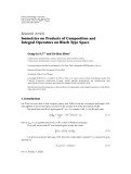 "Báo cáo hóa học: ""  Research Article Isometries on Products of Composition and Integral Operators on Bloch Type Space"""