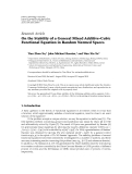 """Báo cáo hóa học: """"   Research Article On the Stability of a General Mixed Additive-Cubic Functional Equation in Random Normed Spaces"""""""