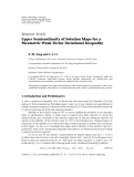 """Báo cáo hóa học: """"   Research Article Upper Semicontinuity of Solution Maps for a Parametric Weak Vector Variational Inequality"""""""