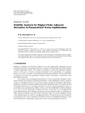 """Báo cáo hóa học: """"  Research Article Stability Analysis for Higher-Order Adjacent Derivative in Parametrized Vector Optimization"""""""