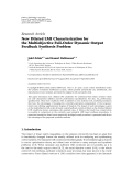 """Báo cáo hóa học: """"  Research Article New Dilated LMI Characterization for the Multiobjective Full-Order Dynamic Output Feedback """""""