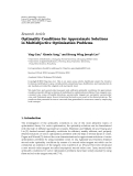 """Báo cáo hóa học: """"  Research Article Optimality Conditions for Approximate Solutions in Multiobjective Optimization Problems"""""""