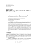 "Báo cáo hóa học: ""  Research Article Hybrid Method for a Class of Stochastic Bi-Criteria Optimization Problems"""