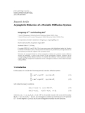 """Báo cáo hóa học: """"   Research Article Asymptotic Behavior of a Periodic Diffusion System"""""""