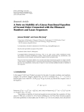 """Báo cáo hóa học: """"  Research Article A Note on Stability of a Linear Functional Equation of Second Order Connected with the Fibonacci Numbers and Lucas Sequences"""""""
