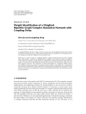 """Báo cáo hóa học: """"   Research Article Weight Identification of a Weighted Bipartite Graph Complex Dynamical Network with Coupling Delay"""""""