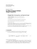 "Báo cáo hóa học: ""  Research Article On Hilbert-Pachpatte Multiple Integral Inequalities"""