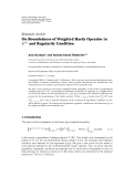 """Báo cáo hóa học: """"   Research Article On Boundedness of Weighted Hardy Operator in Lp · and Regularity Condition"""""""