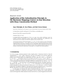 """Báo cáo hóa học: """"  Research Article Application of the Subordination Principle to the Harmonic Mappings Convex in One Direction with Shear Construction Method"""""""