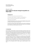 """Báo cáo hóa học: """"   Research Article Some Sublinear Dynamic Integral Inequalities on Time Scales"""""""