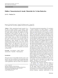 "Báo cáo hóa học: ""   Hollow Nanostructured Anode Materials for Li-Ion Batteries"""