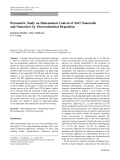 "Báo cáo hóa học: ""  Parametric Study on Dimensional Control of ZnO Nanowalls and Nanowires by Electrochemical Deposition"""