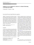 """Báo cáo hóa học: """"   Optimal Growth Conditions for Selective Ge Islands Positioning on Pit-Patterned Si(001)"""""""
