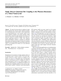 "Báo cáo hóa học: ""  Single InGaAs Quantum Dot Coupling to the Plasmon Resonance of a Metal Nanocrystal"""