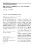 "Báo cáo hóa học: ""  Highly Efficient Near-IR Photoluminescence of Er3+ Immobilized in Mesoporous SBA-15"""