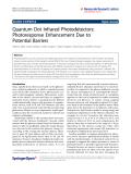 "Báo cáo hóa học: ""   Quantum Dot Infrared Photodetectors: Photoresponse Enhancement Due to Potential Barriers"""