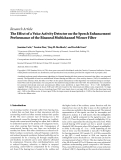 "Báo cáo hóa học: ""   Research Article The Effect of a Voice Activity Detector on the Speech Enhancement Performance of the Binaural Multichannel Wiener Filter"""