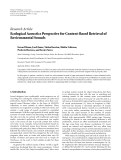 """Báo cáo hóa học: """"   Research Article Ecological Acoustics Perspective for Content-Based Retrieval of Environmental Sounds"""""""